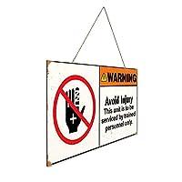 警告は訓練を受けた担当者のみが対応 木製ポスターレトロなポスター安全標識壁パネル木材注意標識壁標識警告標識絵画標識ショップ興味標識警告装飾壁掛け部屋の装飾背景絵画壁画アートストア食料品ショッピングモール駐車場バークラブカフェレストラントイレ公共の場誕生日プレゼント