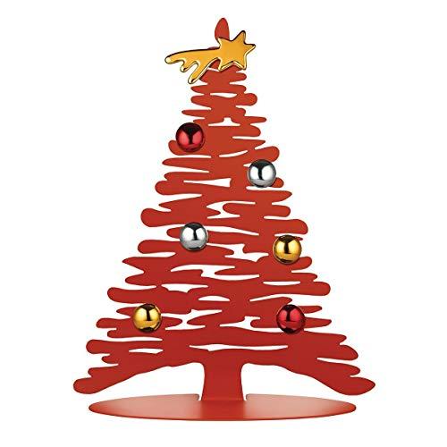 Alessi Bark For Christmas BM06 30 R Decorazione Natalizia di Design a Forma di Albero, Acciaio, Inox, Rosso, M, 1 Unità