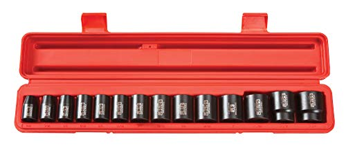 TEKTON 1/2 Inch Drive 12-Point Impact Socket Set, 14-Piece (3/8-1-1/4 in.) | 48161