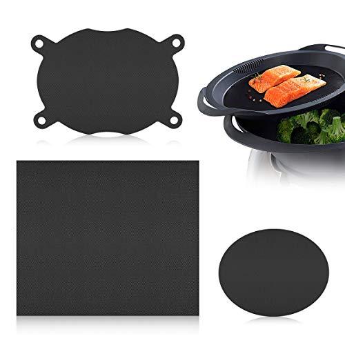 AIEVE 3er Set Dauerbackfolie Backpapier wiederverwendbar Kompatibel mit Varoma Einlegeboden Thermomix Zubehör für TM6 TM5 TM31 Küchenmaschine und Backofen