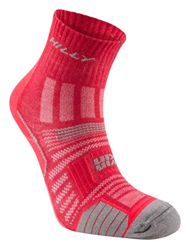 Hilly Women's Twin Skin Anklet Wmn's Socks, Mageite/Greymarl, M