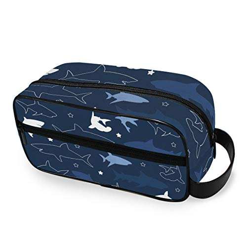 Portable Star Ocean Animal Makeup Bag Storage Beauty Tools Cosmetic Train Case Toiletry Pouch Travel