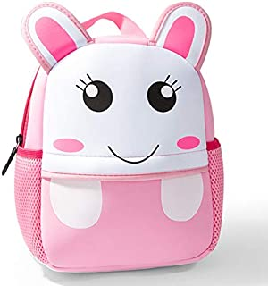 Cute Toddler Backpack Toddler Bag Plush Animal Cartoon Mini Travel Bag for Baby Girl Boy 1-6 Years (Neoprene Rabbit_Small)