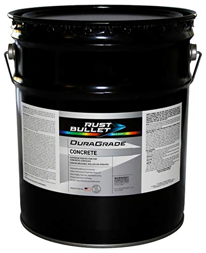Rust Bullet DuraGrade Concrete High-Performance Easy to Apply Concrete Coating in Vibrant Colors for Garage Floors, Basements, Porch, Patio and More.- (5 Gallons, Turquoise)
