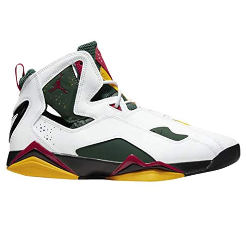 Jordan Air True Flight, Weiá (White/Gym Red-Fir-amarillo), 46 EU