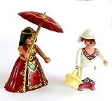 playmobil- Königin Prinzessin mit Kammerfrau Hofdame und Sonnenschirm