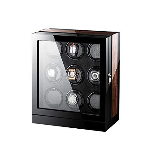 Oksmsa Automatic Watch Winder Box, Smart Touch Con senso orario o antiorario interruttore silenzioso movimento motore misura la maggior parte meccaniche ricordare Osservare scatole immagazzinaggio 9 c