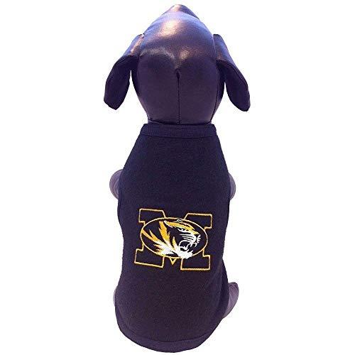 Bama Officially Licensed University of Missouri Mizzou Tigers Polar Fleece Dog Sweatshirt (XX-Small (4-9 lbs))
