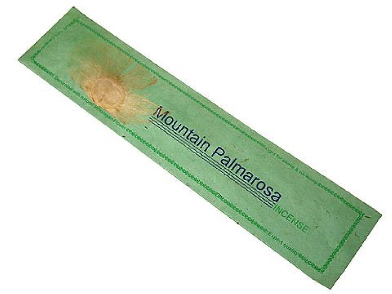 割り当てる七面鳥シャイニングNEPAL INCENSE ネパールのロクタ紙にヒマラヤの押し花のお香【MountainPalmarosaマウンテンパルマローザ】 スティック