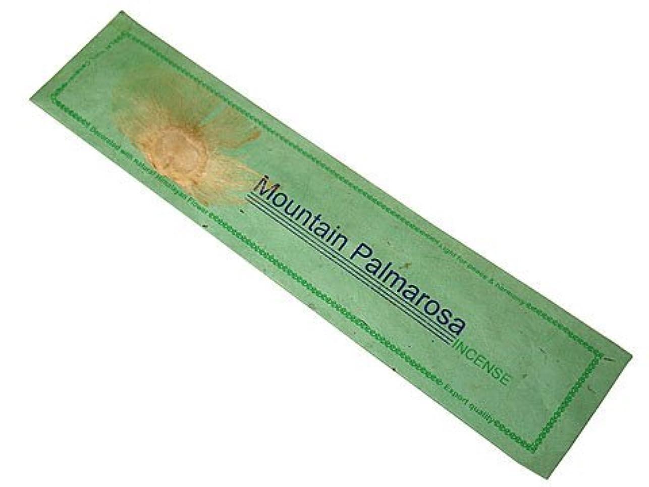 著名なちょうつがいレトルトNEPAL INCENSE ネパールのロクタ紙にヒマラヤの押し花のお香【MountainPalmarosaマウンテンパルマローザ】 スティック