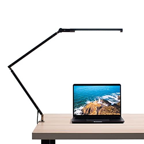 Abrrlo Lámpara de escritorio LED, brazo giratorio, lámpara