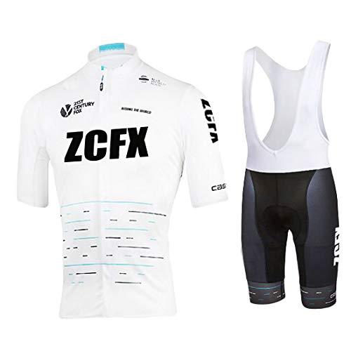Maillot de Ciclismo para Hombre Maillot de Ciclismo de Manga Corta + Shorts de Tirantes Uniforme de Equipo de Ciclismo de Verano Conjunto de Ropa Deportiva al Aire Libre