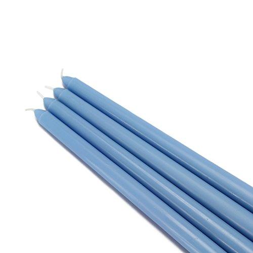 Zest Candle CEZ-075_12 144-Piece Taper Candle, 12', Light Blue