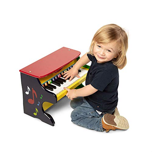Melissa & Doug Learn-to-Play Piano (Musical Instruments, Solid Wood Construction, 25 Keys and 2...