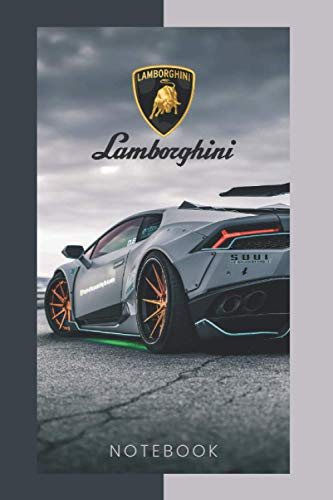 Lamborghini Notebook: (Gray) 120 pages. 6x9