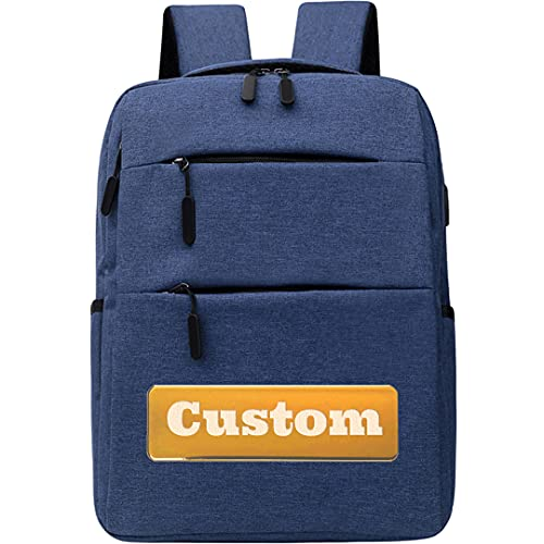Nombre Personalizado Classic School Mochila para Mujeres Casual Best Bag Pack para College Girl (Color : Blue, Size : One Size)