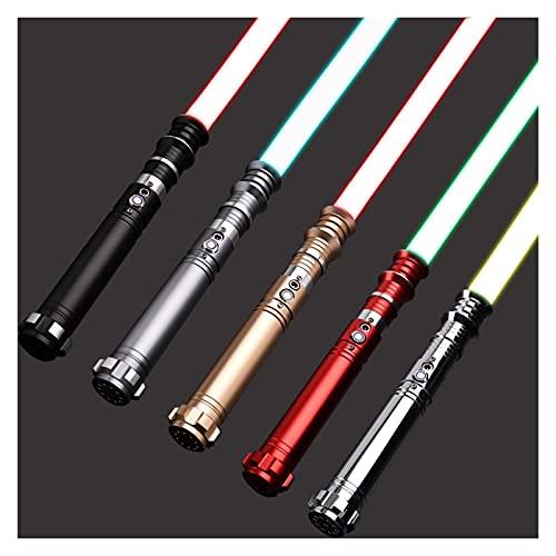 youwu SABER EMPEROR | Sable de luz de actualización | Sable de luz RGB Force FX | 12 colores RGB 10 juego de fuentes de sonido | Decoración de Navidad de Pascua | Hecho profesional | (Color: rojo RGB)