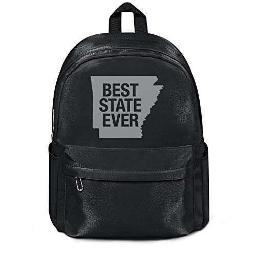 Arkansas Best State Ever College Bookbag Classic Nylon Packable 13 Inch Laptop Compartment Backpack Bag