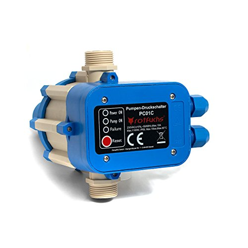 Rotfuchs® PC01 ohne Kabel Druckschalter Pumpensteuerung Pumpenschalter Druckregler