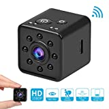 Mini Camera 1080P HD Spy Camcorder Night Vision CMOS Camera 155 Degree Waterproof Hidden Camera Support Mobile WiFi Hotspot for FPV Drone