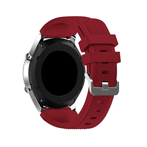 EMIOBAND Bandas Compatibles para Samsung Galaxy Watch Active/Galaxy Watch 3 41mm/Galaxy Watch Active 2 (40mm)(44mm)/Galaxy Watch 42mm/Gear s2/Gear Sport, Correa Seportiva de Silicona 20mm