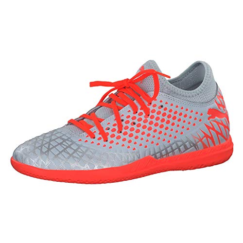 Puma FUTURE 4.4 IT Futsalschuhe Herren, Grau (Glacial Blue-Nrgy Red), 39 EU