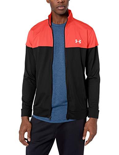 Under Armour Men's Sportstyle Pique Jacket , Martian Red (646)/White , X-Large