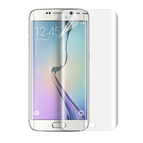 NOVAGO Compatible avec Galaxy S7 Edge Lot de 4 Films Souples Protection écran Anti Petits Chocs et Anti Explosion,Couvre l'écran incurvé, (Video de Pose a Regarder)