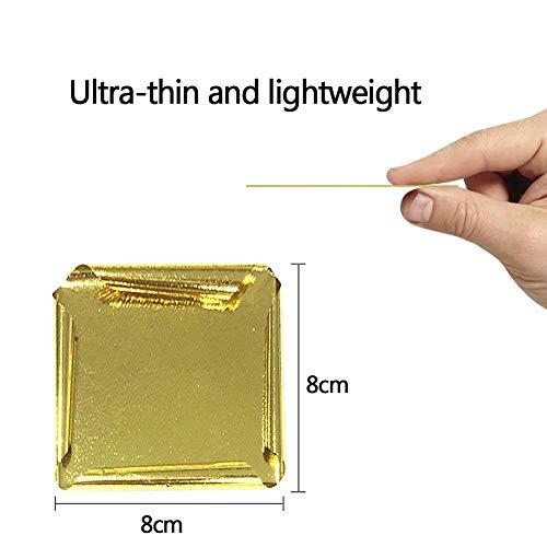 Bebliss essbares Blattgold 24K 10 Stück 8 x 8 cm Reines echtes essbares Blattgold für die Gesichtsbehandlung