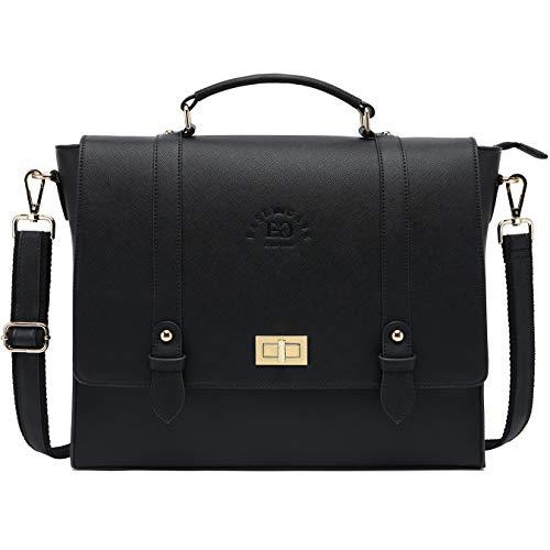 Laptop-Briefacse-for-Women-Men 15.6 Inch Business Computer-Bags Messenger-Bag Work-Tote-Bag Unisex Satchel Bag for Work Office Business Travel,Black