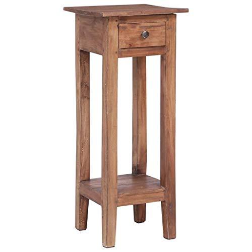 vidaXL Blumenständer Rustikal Blumentisch Beistelltisch Tisch Telefontisch Nachttisch Blumenhocker 30x30x75cm Recyceltes Massivholz