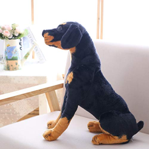 LSONE Kuscheltiere Hundespielzeug, Lebensechte Rottweiler-Spielzeuge, Geschenkpuppe Für Kinder (Rottweiler, 13 Zoll)