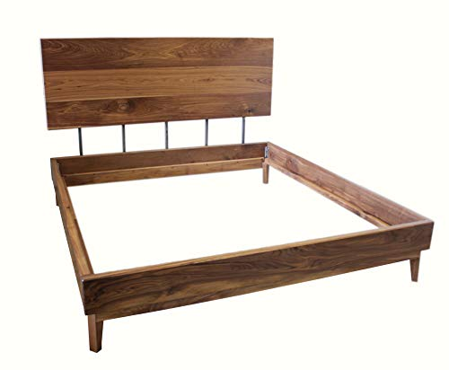 Review Of Modern Solid Black Walnut Bed (King, Harvest Wheat on BW)