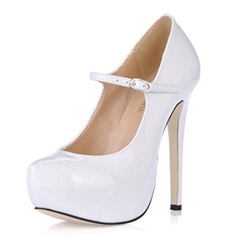 CHMILE CHAU-Zapatos para Mujer-Bombas de Tacon Alto de Aguja-Talón Delgado-Sexy-Novia o Dama-Boda-Nupcial-Vestido...