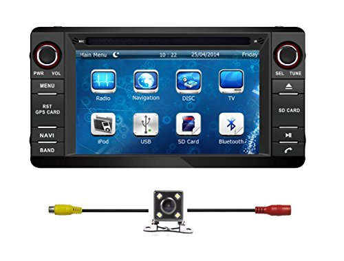 6.2 Inch Touchscreen Monitor Car GPS Navigation System for MITSUBISHI OUTLANDER LANCER ASX 2013-16 Stereo DVD Player w/Radio+RDS+Bluetooth+SWC+AUX In+Free Backup Rear View Camera+Free US Map by Indiny
