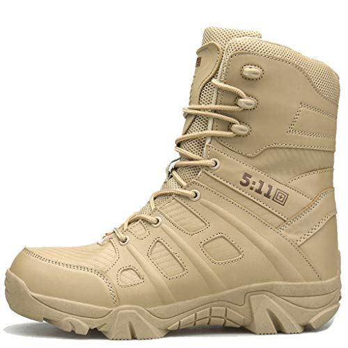 WQLESO Patrol Ausbildung Polizei-Boot-Männer Military Combat Boot Special Forces Tactical Sicherheit Recon,Sand Color B-44