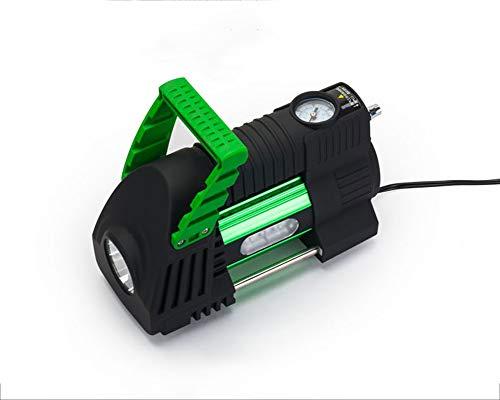 Saman Aspirateur Voiture avec Lumière LED,Aspirateur À Main Haute Puissance,DC 12V 120W 4800PA Sec/Humide Portable,1 Filtres HEPA, Cordon d'alimentation De 4.5M,Green