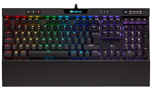Corsair K70 RGB MK.2 Low Profile Tastiera Meccanica Gaming Cherry MX Red, Lineare e Veloce, Retroilluminato RGB LED, Italiano, QWERTY, Nero