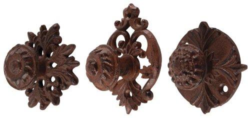 Esschert Design Cast Iron Door Knobs, Set of 3