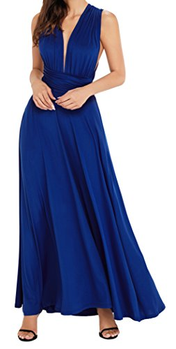 EasyMy Damen Maxi Abendkleider Lang Cabrio Multi-Way Party Cocktailkleid Brautjungfer Kleider