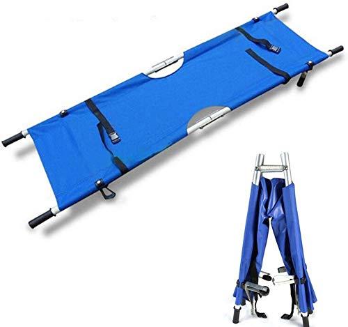 GLJY Notrettungs-Aluminiumlegierung, Die Tragbare Bahre Mit Griffen LRSD -001, Gewicht-KapazitäT 220Lbs / 287Lbs, Blau Faltet