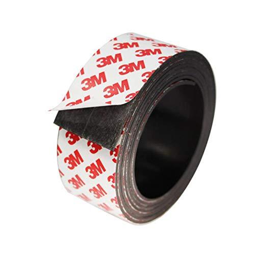 Xinlie Magnetklebeband Ferroband Magnetklebestreifen Magnetband Selbstklebend Magnetisches Klebeband Magnetstreifen Selbstklebende Magnethaft-Wandleiste aus Stahlblech Größe 30×1mm-1m