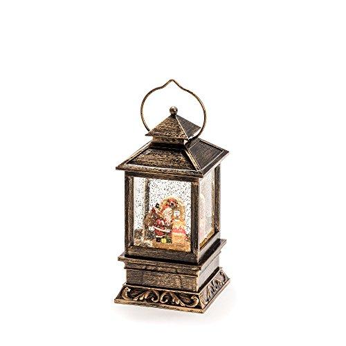 """Konstsmide LED Snow Globe Lantern """"Santa Delivering..."""