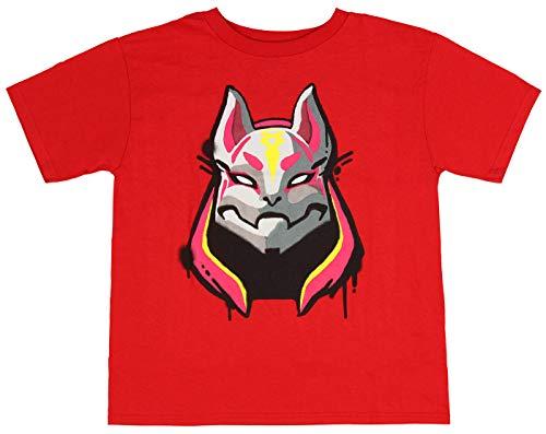 Camisas Fortnite Drift 1 Piel Gráfico para niños Algodón Rojo Video Juego Fan tee XS