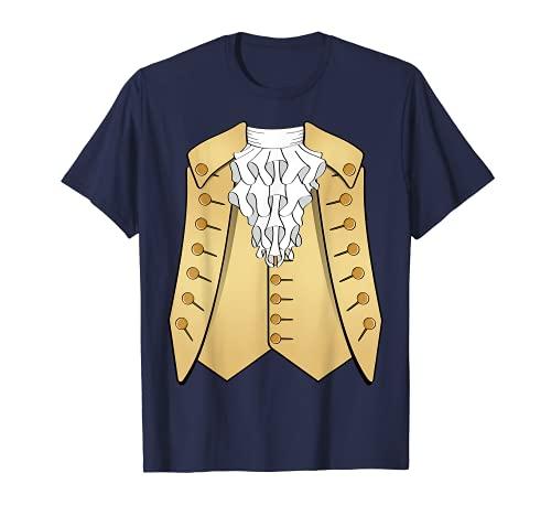 Disfraz aristcrata de Amrica histrica del siglo XVIII Camiseta