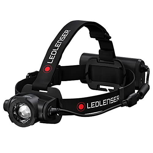 Ledlenser , frontal recargable H15R, 2500 lúmenes, sistema de enfoque avanzado, regulable, sistema de carga magnética,