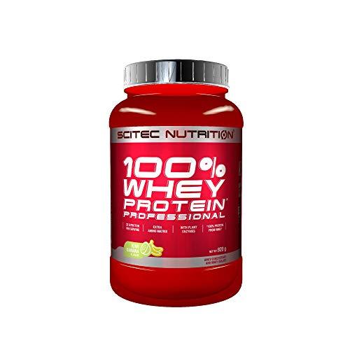 Scitec Nutrition 100% Whey Protein Professional mit extra zusätzlichen Aminosäuren und Verdauungsenzymen, 920 g, Kiwi-Banana