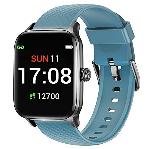 Letsfit Smartwatch für Damen Herren, 1.3 Zoll Voll Touchscreen Fitness Tracker mit Pulsuhr Schlafmonitor & Blutsauerstoffsättigung, Fitnessuhr mit Schrittzähler, 5ATM Wasserdicht Sportuhr Smart Watch