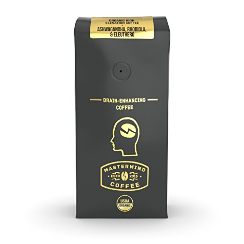 Mastermind Coffee Infinity Blend - Organic, Nootropic Infused High Elevation Coffee with Ashwagandha, Rhodiola, and Eleuthero - Premium Roast Ground Coffee for Drip