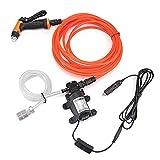 SUIDSFKDFJS Pompe de lavage électrique pour voiture, 12 V, portable - Nettoyeur haute pression auto-amorçant pour le nettoyage rapide de la pompe à eau, de la climatisation, du jardin